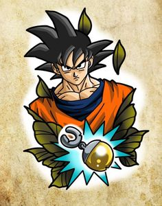 DBZ Dragon Ball Z Kai Super Saiyan Goku 4 star Ball Vinyl Decal sticker AnyColor