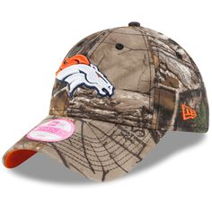 Women's New Era Realtree Camo Denver Broncos Preferred Pick 9TWENTY Adjustable Hat