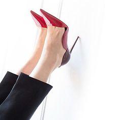 Chaussures Femme - Habillé   Soirée   Evénement - Rouge - Talon Aiguille -  Talons - Talons - Cuir Verni a715e3731e32
