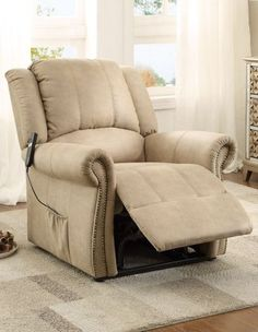 Iola Traditional Taupe Polyester Power Lift Chair