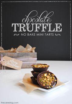 No-Bake Mini Truffle Tarts  |  TheCakeBlog.com #holidayentertaining