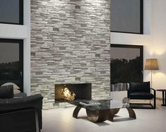 Use this brick effect tile to create great looking feature walls, that help define any room design.