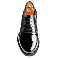 ON SALE - Ready to be Shipped : Positano, in calf black patent leather with full soft leather lining, leather heel with special anti-slip rubber. Get them now on www.guidomaggi.com/us
