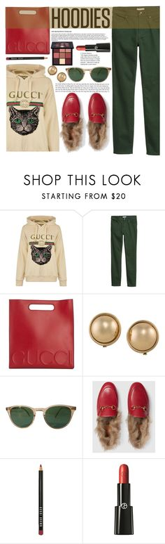 """Untitled #540 1/6/18  3:07pm"" by riuk on Polyvore featuring Gucci, H&M, Ralph Lauren, Garrett Leight, Bobbi Brown Cosmetics, Giorgio Armani and Huda Beauty"