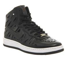 Nike Air Force 1 Mid Black Cut Out Ultra Force Joli - junior 818e352a25b45