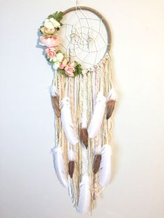 Floral Dream Catcher by BlairBaileyDesign on Etsy.