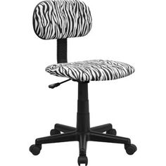 Flash Furniture Computer Chair, Zebra Print