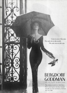 Bergdorf Goodman advertisement, taken by Steven Klein on ZsaZsa Bellagio