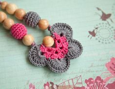 Teething Necklace  Nursing pendant  butterfly by bysiki on Etsy