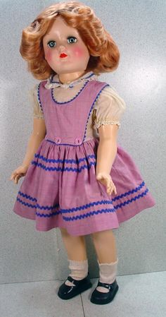 Ideal P-93 Toni Doll with Red Hair and Orig, Clothing,1949!