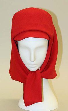 Hat | Hubert de Givenchy (French, b. 1927) | Date. 1963-1966 | Material: wool | The Metropolitan Museum of Art, New York