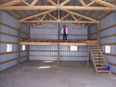 wood stove pole barn - perfect area in the loft to finish off for a place for kids to play. wood stove pole barn - perfect area in the loft to finish off for a place for kids to play.