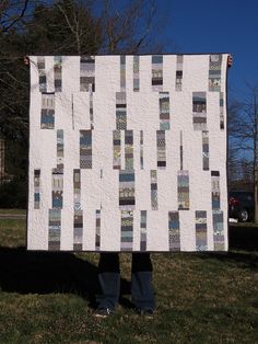 Beth's wonky stripes quilt
