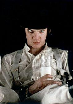 """Malcolm McDowell in """"Clockwork Orange"""" (1971). DIRECTOR: Stanley Kubrick."""