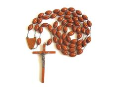 Vintage Extra Large Wooden Rosary by EncoreEmporium on Etsy