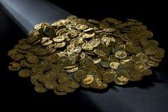 Un tesoro de moneda romanas hallado en una huerta #suiza