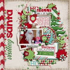 **NEW** Template Set 187 by Cindy Schneider Dear Santa Bundle by Digilicious Designs AVAILABLE Black Friday at Sweet Shoppe Designs