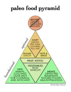 Paleo food pyramid. Order amazing paleo diet at