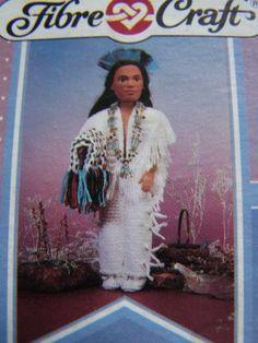 Indian Princess Doll Crochet Pattern Wedding Dress Native American