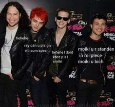 My Chemical Romance- frank Iero. Gerard Way. Ray Toro. Mikey Way