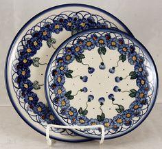 Polish Pottery, Handmade Polish Pottery Plates