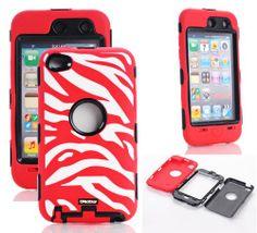 Oksobuy® Deluxe Zebra Hard Soft High Impact Armor Case Combo for Apple Ipod Touch4,(red White, Touch4 Case)-0237 OkSoBuy,http://www.amazon.com/dp/B00EU9SKG8/ref=cm_sw_r_pi_dp_0b8Osb04EMD05JVW
