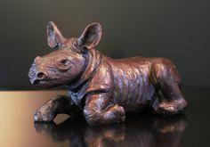 Why Me - Bronze Sculpture of a rhino calf lying down by Bruce Little Bronze Sculpture, Lion Sculpture, Calves, Statue, Art, Art Background, Baby Cows, Tone Calves, Kunst
