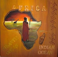 """AFRICA"" - Acrylic on Canvas, 60 x 60 cm  - For Sale!"