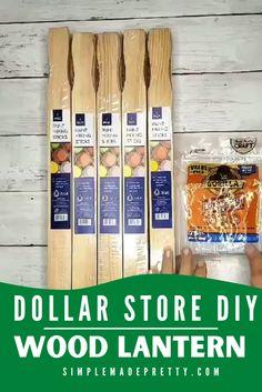 Diy Crafts For Home Decor, Diy Crafts To Do, Diy Craft Projects, Dollar Tree Decor, Dollar Tree Crafts, Paint Stick Crafts, Painted Sticks, Dollar Stores, Fall Diy