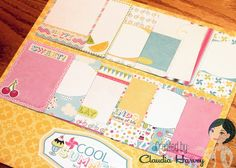 Love these 3x4 Journaling Cards, so perfect for Summer! Samantha Walker Cool Summer - Project by @Claudia Park Harvey #samanthawalker #cartabella #projectlife #journal