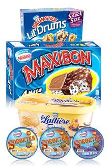 Nestle Ice Cream packs