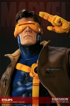 The Cyclops Premium Format figure captures every aspect of the Marvel X-Men hero in stunning detail. Presented here in approximately 1:4 scale, each piece is individually painted and finished, each with its own unique quality and detail that is the trademark of a handcrafted Sideshow Collectibles product. Complete with a detailed fabric costume with removable jacket and electronic light-up feature, the Cyclops Premium Format Figure is an outstanding addition to any Marvel collection.