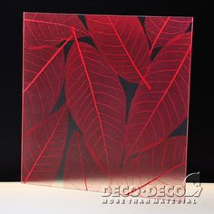 Orchid leaf red,Deco Nature,DECO PANEL,DECO DECO,resin panel,architectural panel, translucent resin panel, decorative panel, laminated resin panel,