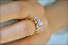 Amethyst Spike Gold Ring by illuminancejewelry on Etsy, $38.00