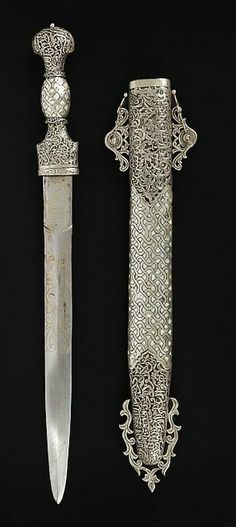Moroccan sword or dagger. Katana, Fantasy Armor, Fantasy Weapons, Swords And Daggers, Knives And Swords, Diesel Punk, Small Sword, Sword Fight, Dagger Knife