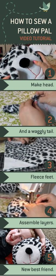 How to sew a pillow pal