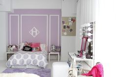 Tween Bedroom Decorating Idea: DIY Feature Wall