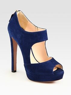 blue suede Prada booties |  CLICK THIS PIN if you want to learn how you can EARN MONEY while surfing on Pinterest