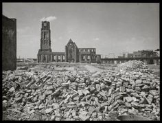 The center of Rotterdam after the Bombardment of 14 May 1940.