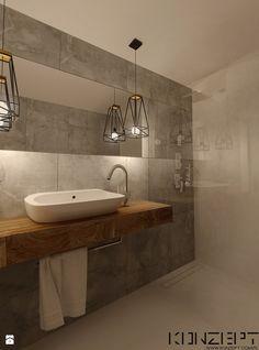 Przedwojenna Willa - Średnia łazienka bez okna, styl industrialny - zdjęcie od KONZEPT Architekci