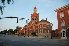 "Circleville, Ohio court house.  Or as Eliza calls it ""Norte dame"" or ""Quasimodo's house"""