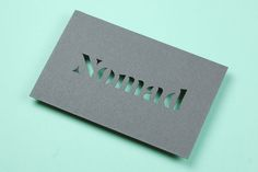 #nomadwatches #businesscard #design