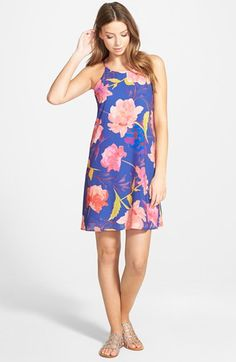 EVERLY High Neck Swing Dress available at #Nordstrom