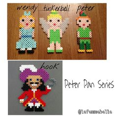 Peter Pan characters perler beads by lefemmebelle