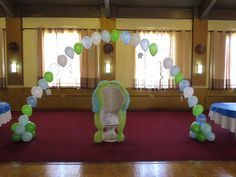 blue and green baby shower decorations decorated by ev events and rentals in west have
