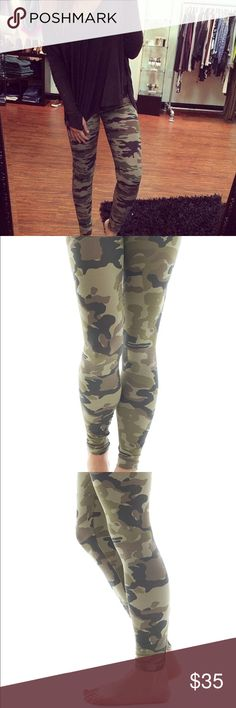 Chic Camo Leggings The perfect Camo print! Soft durable material / Such a versatile style! Lularoe Inspired LuLaRoe Pants Leggings