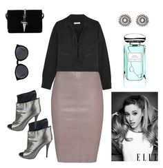 """""""Untitled #110"""" by miiirrra ❤ liked on Polyvore featuring Equipment, Jitrois, Giuseppe Zanotti, Cesare Paciotti, Yves Saint Laurent, By Terry and Haze"""