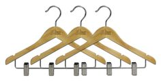 The best hanger for dance costumes! Notches for straps, clips for bottoms, and the perfect size for the Dream Duffel Garment Bags. Save money per hanger by purchasing them as a Best Hangers, Keep Shoes, Garment Bags, Wooden Hangers, Duffel Bag, Household Items, Clothes Hanger, Packing, Metal