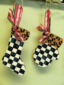 hand painted ornament shapes
