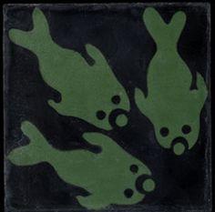 Emery & Cie, cement fish tile Cement, Sea Creatures, Funny Cute, Pisces, Floors, Plant Leaves, Tile, Artsy, Urban